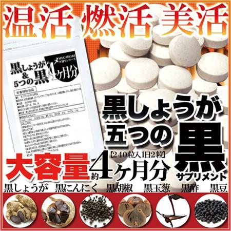 【メール便OK】メガ盛り★黒しょうが&5つの黒サ...