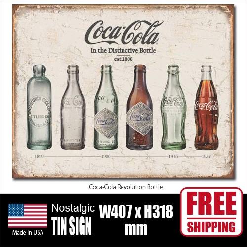 ブリキ看板 コカ・コーラ Coca-Cola コークサイ...