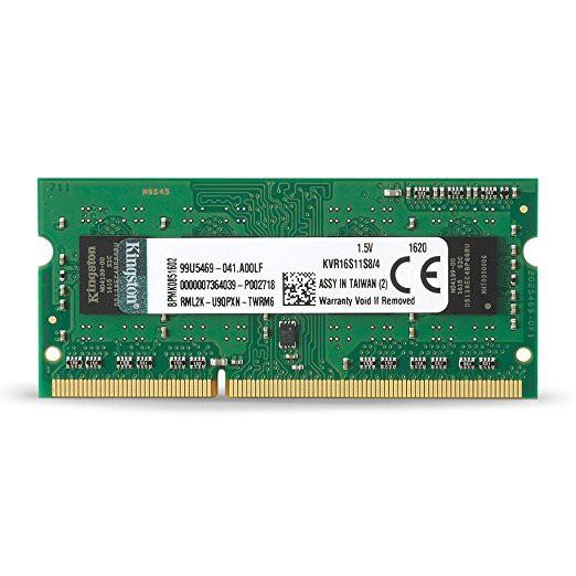 キングストン Kingston ノートPC用メモリ DDR3 1600 (PC3-12800) 4GB CL11 1.5V No