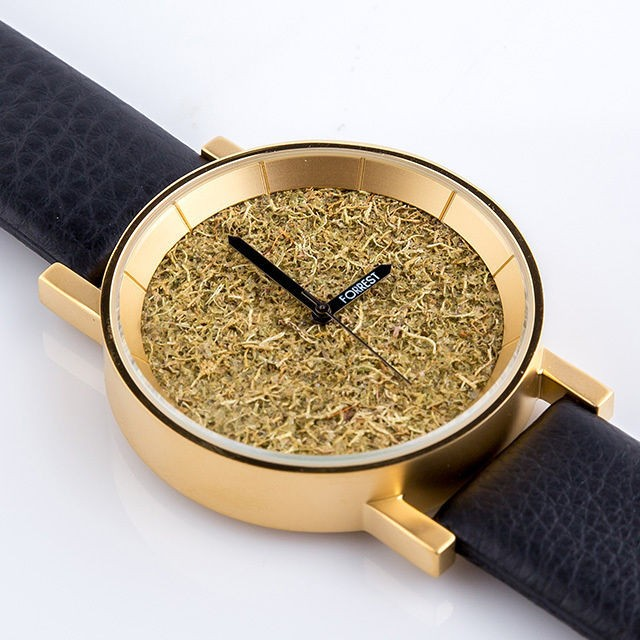 【送料無料】 森の腕時計 Gold Forrest メンズ レ...