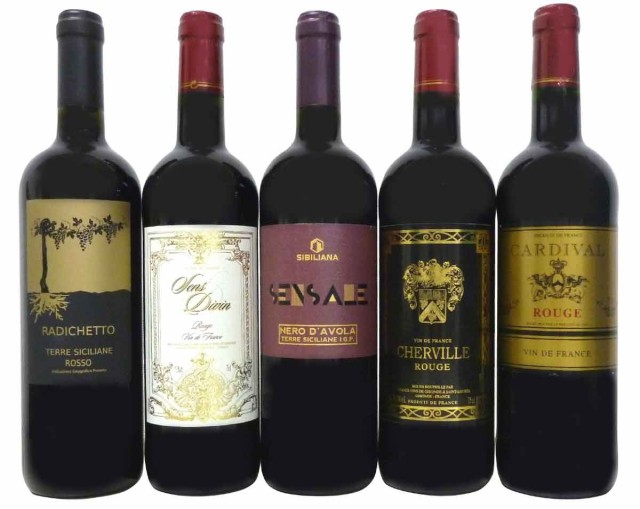 セレクションセレクト 赤ワイン5本セット ( フラ...