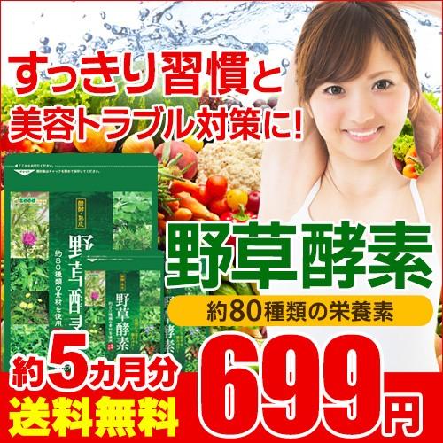 期間限定699円SALE 野草酵素 約5ヵ月分 送料無料