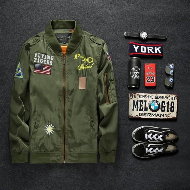 セール品 刺繍アーミージャケット k199
