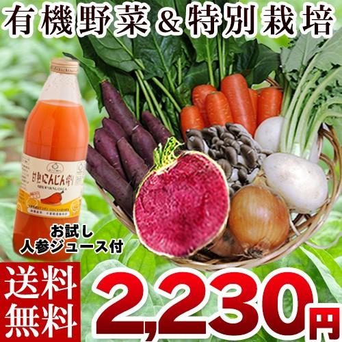 野菜セット 有機&無農薬 特別栽培お試し野菜セッ...