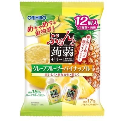 ぷるんと蒟蒻ゼリーパウチ グレープフルーツ+パ...