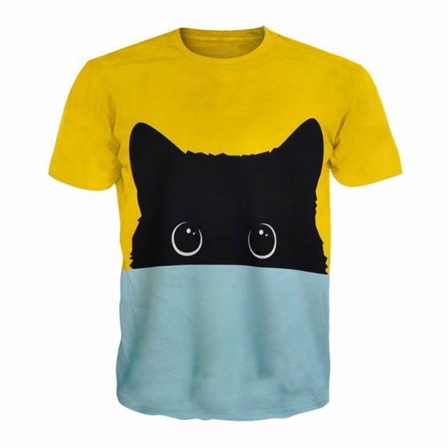 【送料無料】猫 猫柄 Tシャツ レディース トップ...