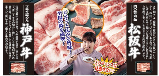 美味礼賛 神戸牛・松阪牛焼肉食べ比べ(55483-000...