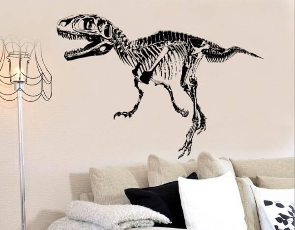 送料無料 ウォールステッカー 恐竜 化石 骨 剥が...