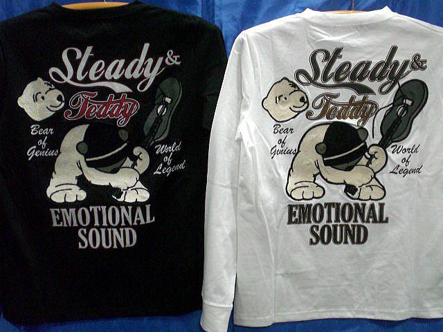 Steady Teddy  長袖Tシャツ ステディ・テディ