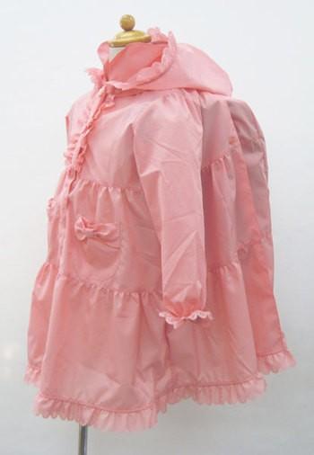 レインコート 子供用 ピンク ランドセルの上からO...