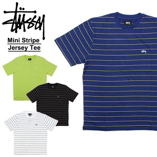 ステューシー(STUSSY)Mini Stripe Jersey Tee 半...