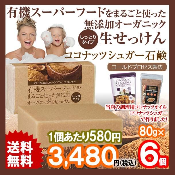 【メール便送料無料】ココナッツシュガー石鹸 有...