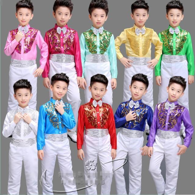 男の子上下スーツセット/ダンス衣装/子供ステージ...