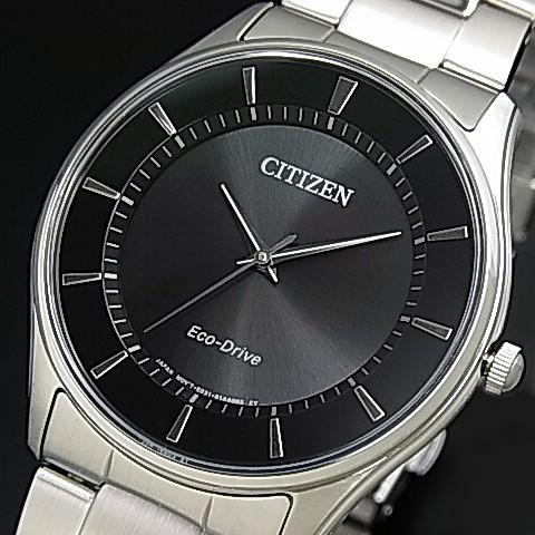 【CITIZEN/シチズン】メンズ ソーラー腕時計 ブラ...