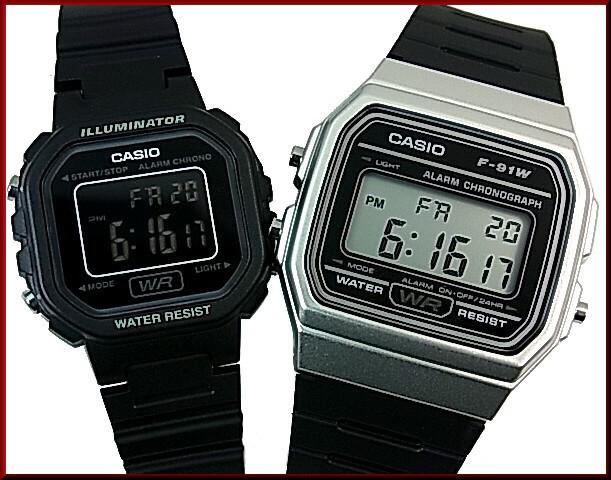 9336ecae88 CASIO【カシオ/スタンダード】アラームクロノグラフ ペアウォッチ 腕時計 デジタル ラバーベルト【