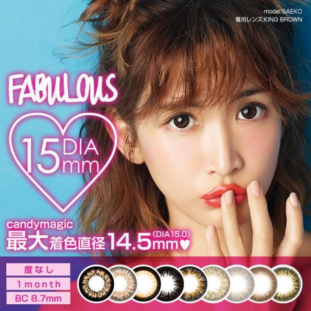 紗栄子モデル 1ヶ月用2枚 15.0mm ファビュラス FA...