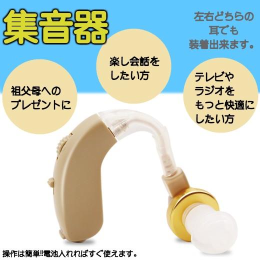 集音器 イヤホン 耳かけ式集音器 耳かけ式 電池式...