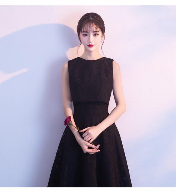 黒色イブニングドレス  ロングドレス ピアノ...