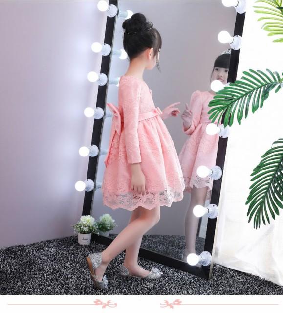 キッズ 子供ドレス 結婚式 リングガール秋冬 裏...