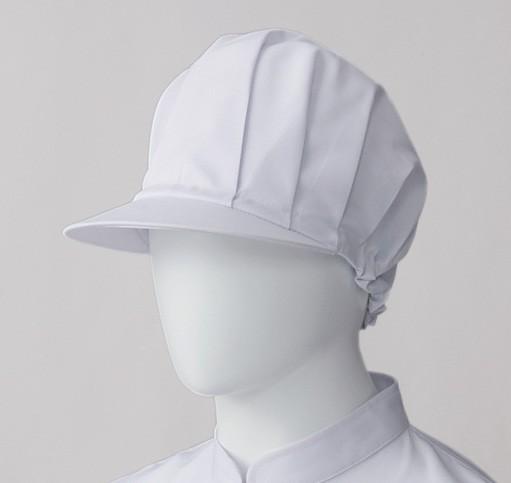 22 ツバ付帽子 ホワイト(厨房 調理 白衣 サ...