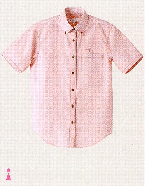 WH7608 女性用ボタンダウンシャツ 全3色 セブ...