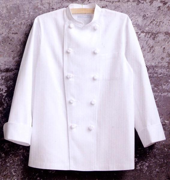 414-50 コックコート胸ポケット付 全1色 (厨...