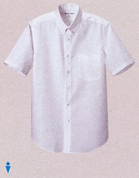 CH1660 男性用ボタンダウンシャツ ホワイト セ...