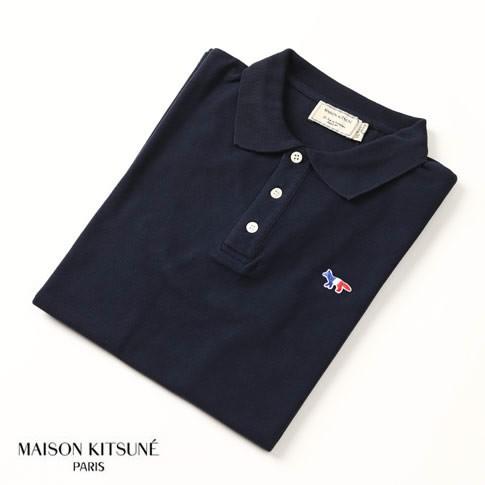 MAISON KITSUNE メゾンキツネ 鹿の子 半袖 ポロシ...