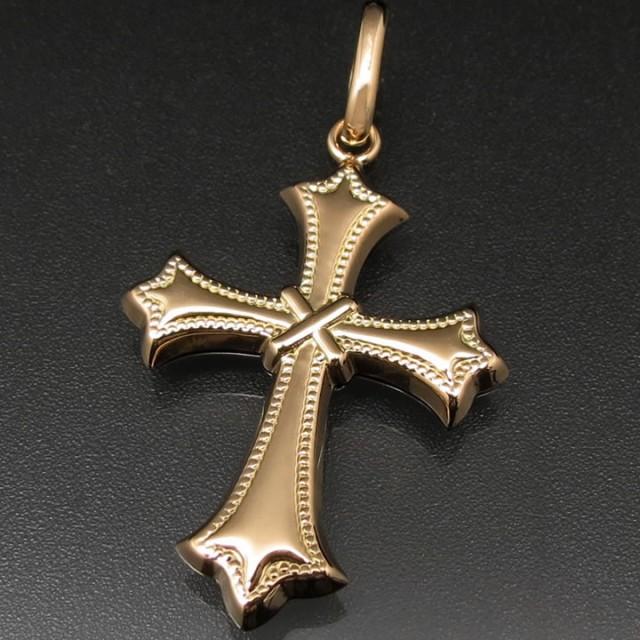 クロス(十字架) ペンダントトップ 18金 K18 ト...