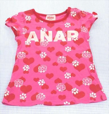 ANAP アナップ Tシャツ 半袖 90cm ドット ピンク...