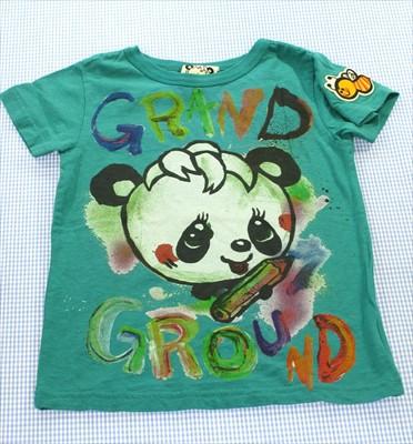 グラグラ GRAND GROUND Tシャツ 半袖 110cm 緑系...