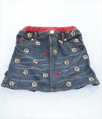 グラグラ GRAND GROUND デニム スカート 130cm 女...