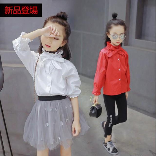 DM春秋着子供服 ブラウス 入学式 女の子 フォーマ...
