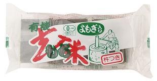 オーサワ 有機よもぎ入玄米もち 300g(6個)