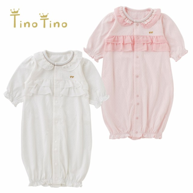 bfba4e138b276 ティノティノ フリル新生児ツーウェイオール ベビー服  赤ちゃん  ベビー ...