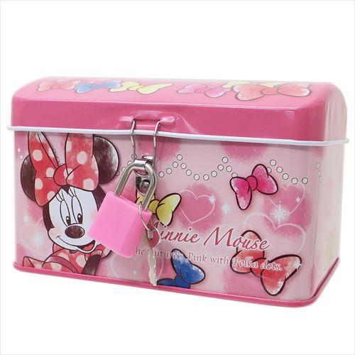 ◆《コレクション》 ミニーマウス  鍵付き 缶バン...