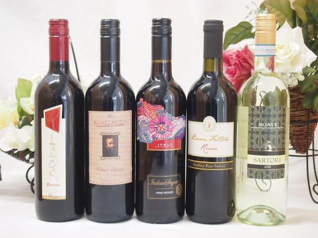 イタリア赤白ワイン5本セット(ミケランジェロ赤/...
