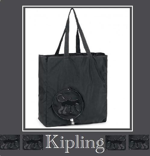 Kipling携帯用トートバック/COOPER NEW Black