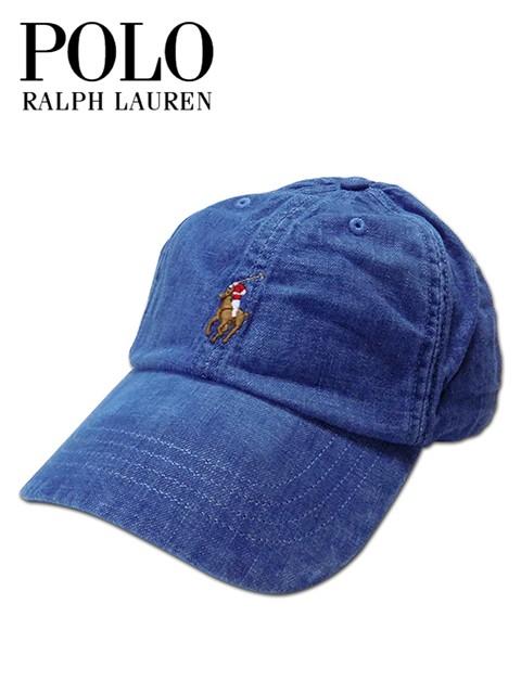メンズ レディース キャップ ブルー Polo Ralph L...