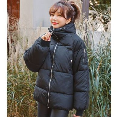 韓国ファッション ボリュームWellon素材 ダウンコ...