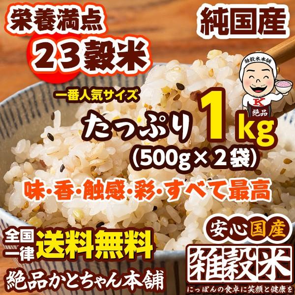 雑穀 栄養満点23穀米 1kg 国産 500g×2袋 送料無...