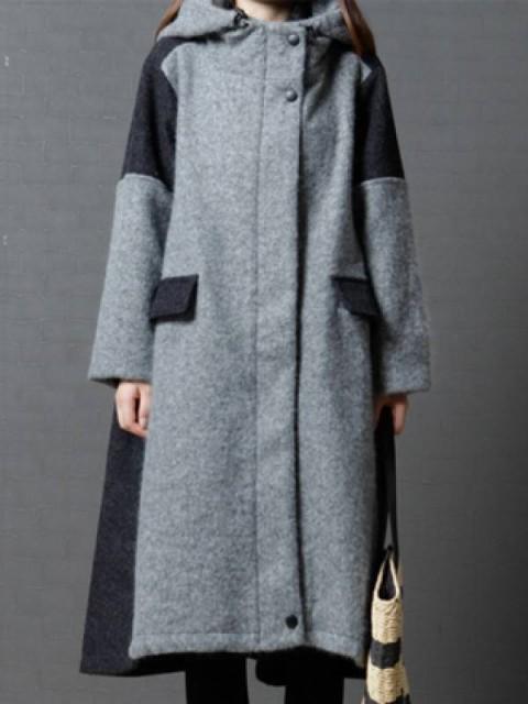 売れ筋 ファッション2色フード付きストリングゆ...