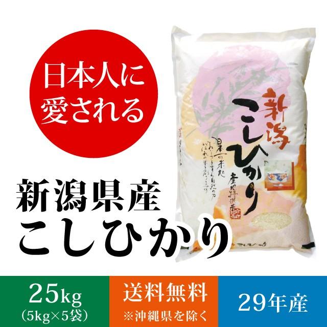 【日本人に愛される】新潟県産コシヒカリ 白米 25...