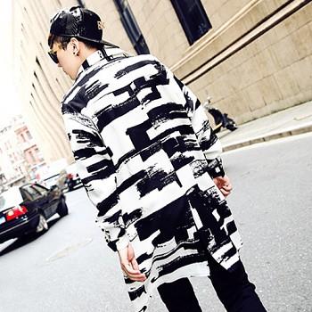 人気!韓国 メンズ ロングジャケット L ロック...