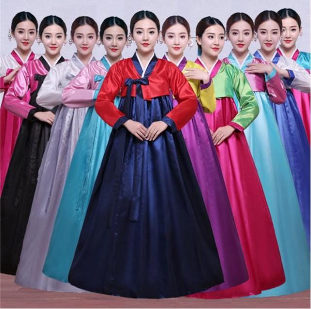 10色/2点セット 韓国ドレス 韓服 宮廷風 チマチ...