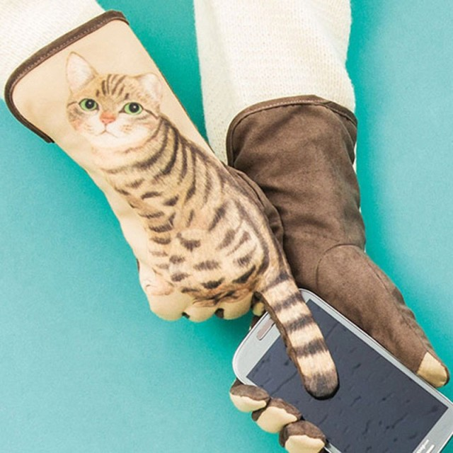【送料無料】猫 猫柄 手袋 グローブ レディース ...