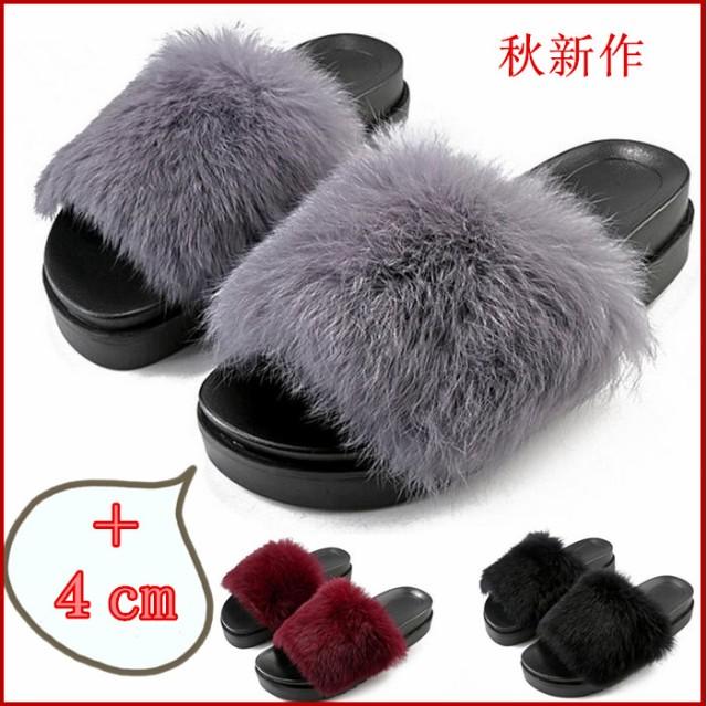 【2580→1880円.6時間限定】ファーサンダル 靴 ...