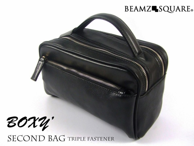 【BEAMZSQUARE】BOXYstyle牛革セカンドバッグ BS...
