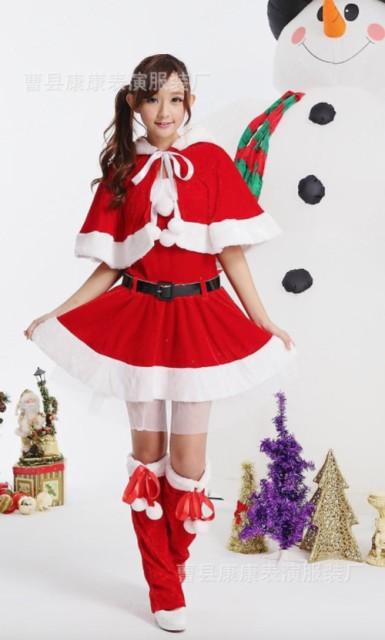 かわいい ネコ耳 サンタ コスプレ衣装 女性用 5...