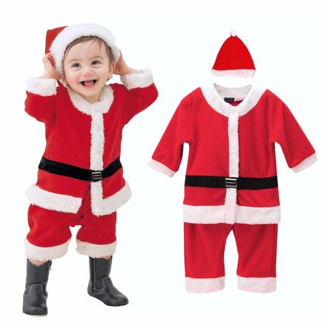 クリスマス 子供服 帽子付き 赤ちゃん サンタ コ...